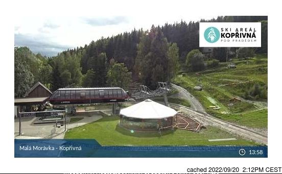 Karlov - Malá Morávka - Kopřivná webkamera ze včerejška ve 14 hod.