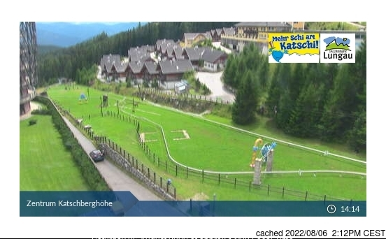 Katschberg-Aineck webcam at lunchtime today