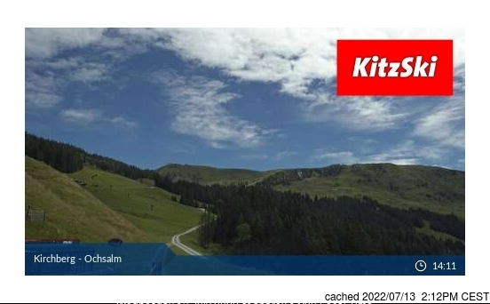 Kirchberg webcam at 2pm yesterday