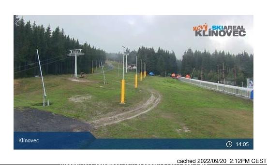 Webcam de Klínovec a las 2 de la tarde ayer