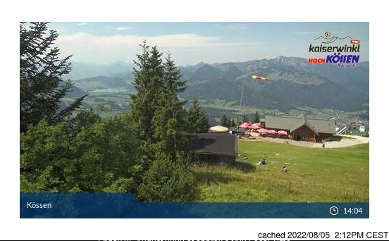 Koessen-Hochkoessen/Unterberghorn webcam at lunchtime today