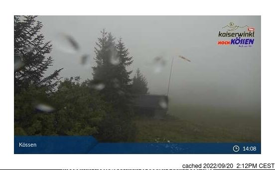 Koessen-Hochkoessen/Unterberghorn Webcam gestern um 14.00Uhr
