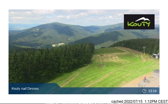 Kouty nad Desnou webcam at lunchtime today