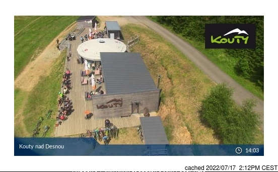 Kouty nad Desnou webcam at 2pm yesterday