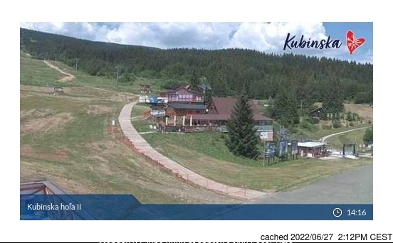 Kubinska Hola webcam at 2pm yesterday