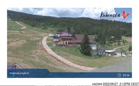 Kubinska Hola webcam at 2pm yesterday