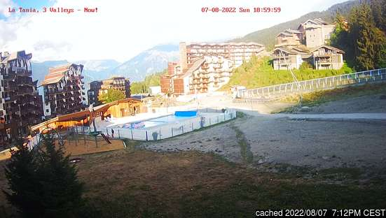 Live Snow webcam for La Tania