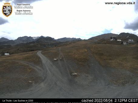La Thuile webcam at 2pm yesterday