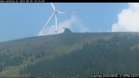 Lachtal webcam at 2pm yesterday