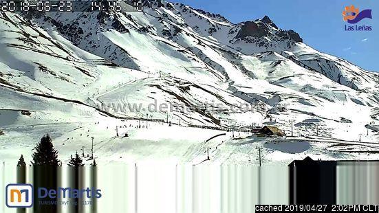 Webcam de Las Leñas a las 2 de la tarde hoy