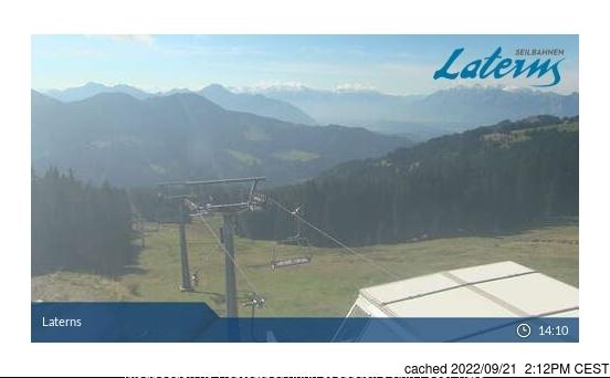 dün saat 14:00'te Laternser Tal'deki webcam