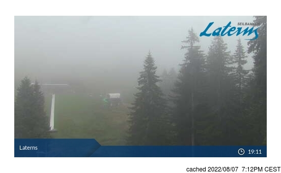 Live Snow webcam for Laternser Tal