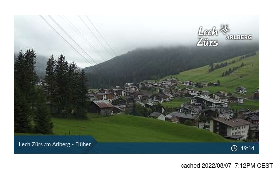 Live Snow webcam for Lech