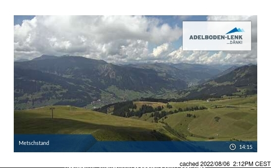 Lenk webcam at lunchtime today