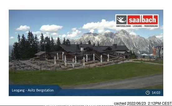 Leogang webbkamera vid kl 14.00 igår
