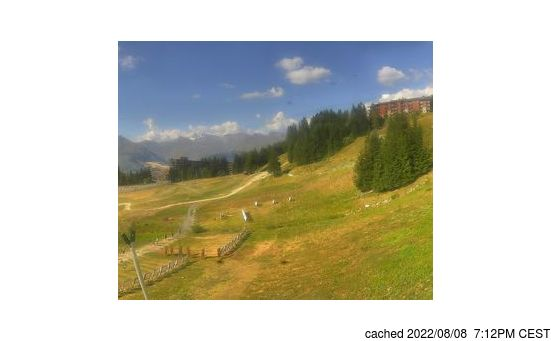 Live Snow webcam for Les Arcs