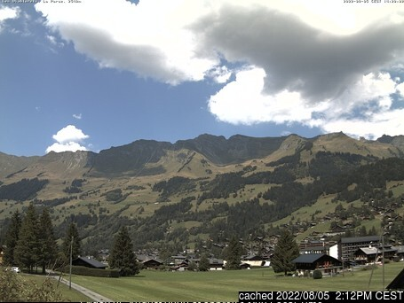 Les Diablerets webcam at 2pm yesterday