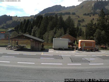Les Mosses - La Lécherette Webcam showing current snow