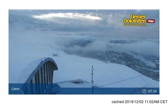 Lienzer Dolomiten webcam hoje à hora de almoço
