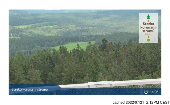 Lipno - Kramolín webcam at lunchtime today