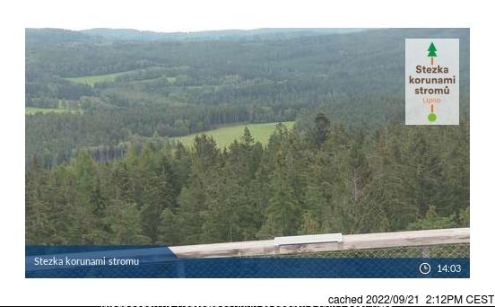 Lipno - Kramolín webcam om 2uur s'middags vandaag