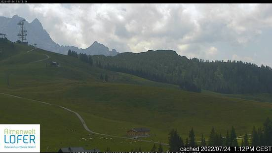 Lofer webcam at lunchtime today