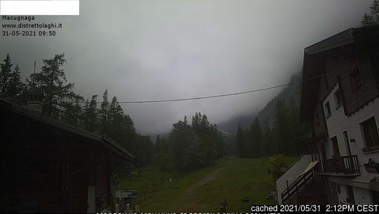 Webcam de Macugnaga à midi aujourd'hui