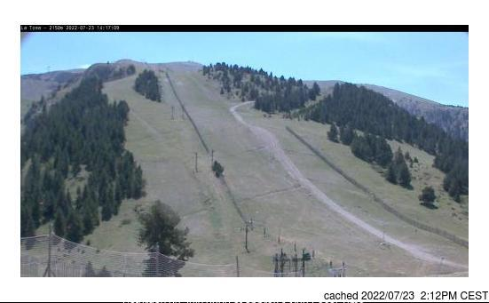 Masella webcam at 2pm yesterday