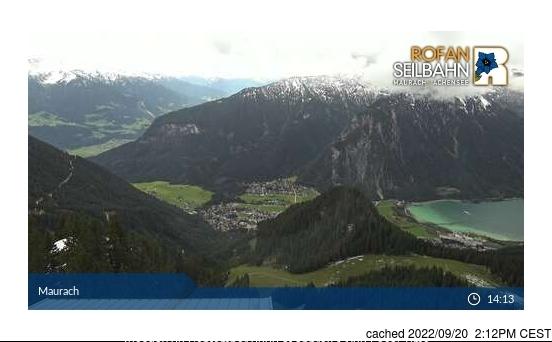 昨日午後2時のMaurach am Achenseeウェブカメラ