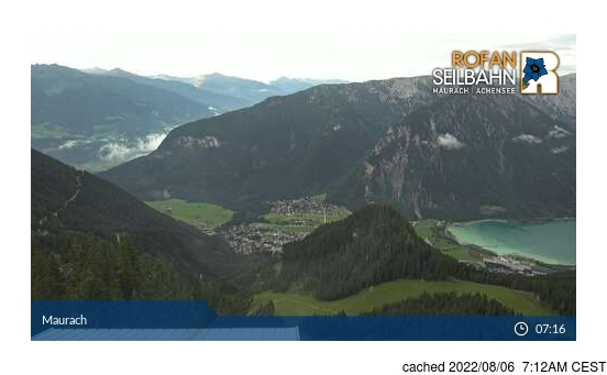 Webcam Live pour Maurach am Achensee