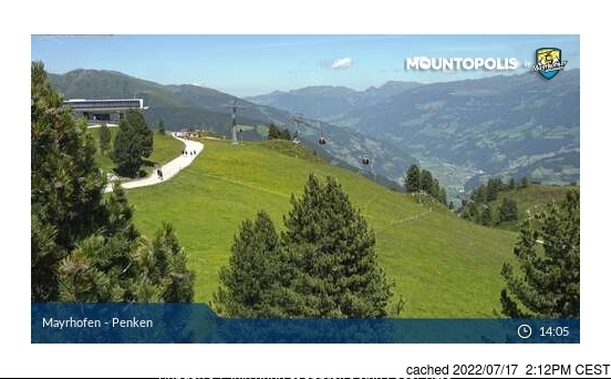 Webcam de Mayrhofen à midi aujourd'hui