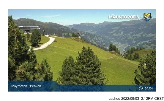 Mayrhofen webcam at 2pm yesterday