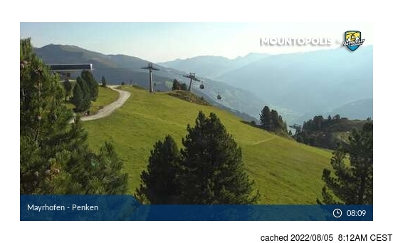 Live Snow webcam for Mayrhofen