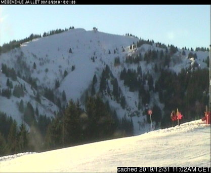 Megeve webcam at 2pm yesterday