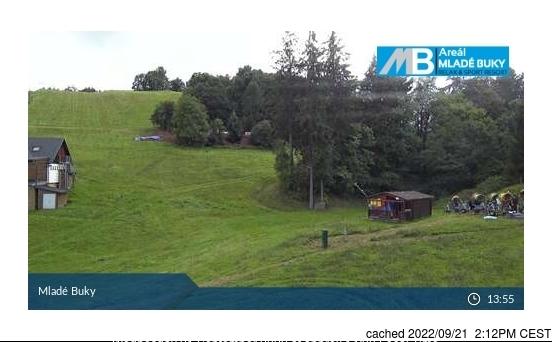 dün saat 14:00'te Mladé Buky'deki webcam