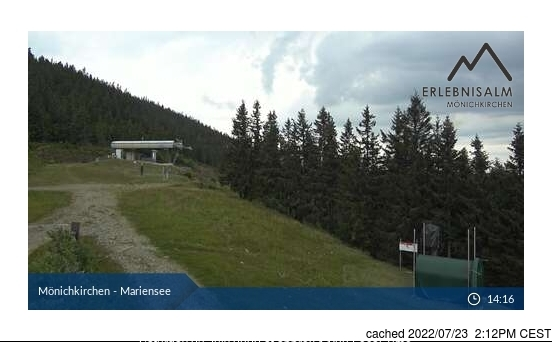 Mönichkirchen-Mariensee webcam at lunchtime today