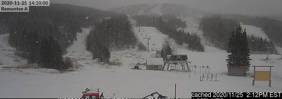 Mont Edouard webcam at 2pm yesterday