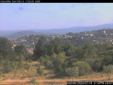 Mont Ventoux webcam at lunchtime today