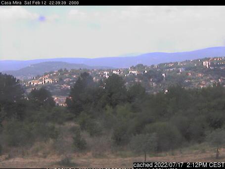 Mont Ventoux webkamera ze včerejška ve 14 hod.