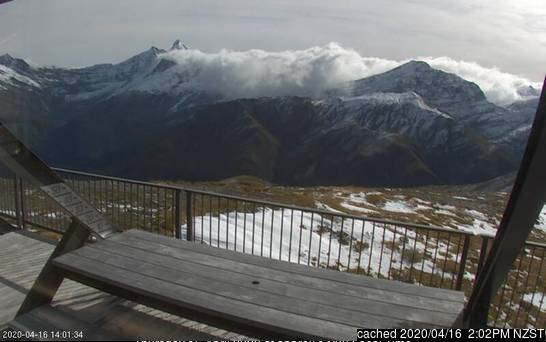 Mount Aspiring webcam at 2pm yesterday
