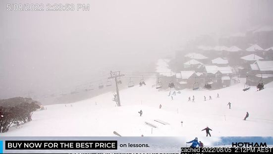 Mount Hotham webcam alle 2 di ieri sera