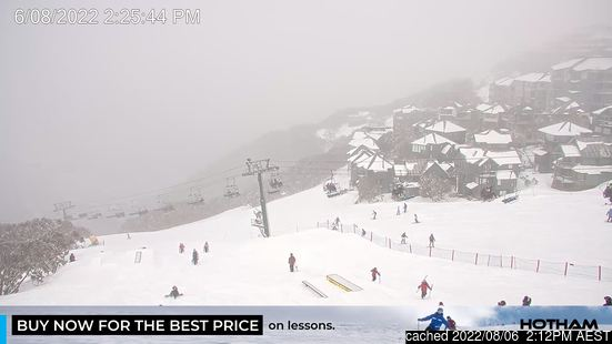 Live webcam per Mount Hotham se disponibile