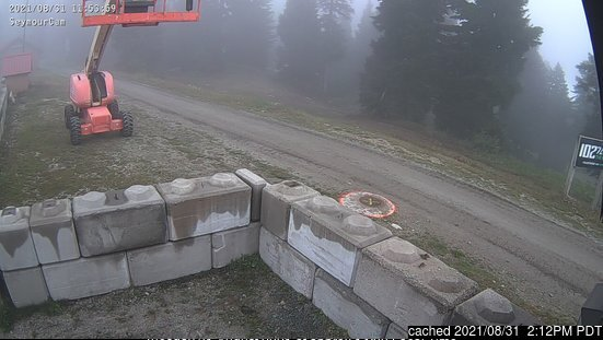 Mount Seymour webcam at 2pm yesterday