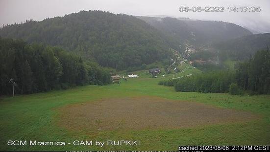 Webcam de Mraznica - Hnilčík a las 2 de la tarde ayer