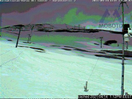 昨日午後2時のMt Voras Kaimaktsalanウェブカメラ