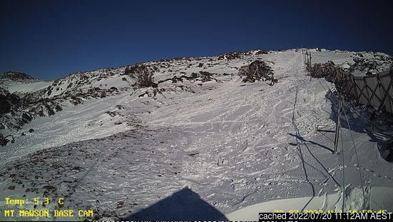 Mount Mawson webcam alle 2 di ieri sera