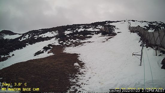 Mt Mawson webcam at 2pm yesterday