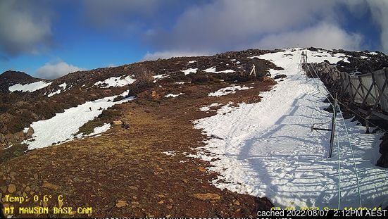 Webcam de Mt Mawson à 14h hier