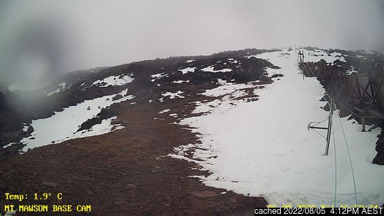 Live webcam per Mount Mawson se disponibile