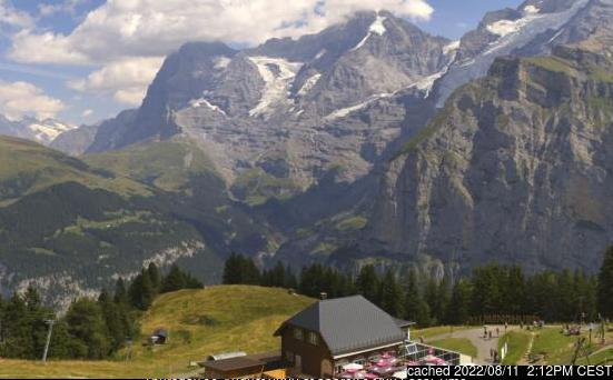 Mürren webcam at 2pm yesterday